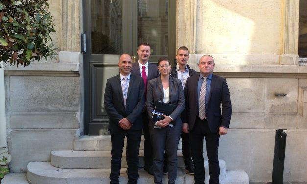Une délégation UNSA-SDIS de France Place Beauveau