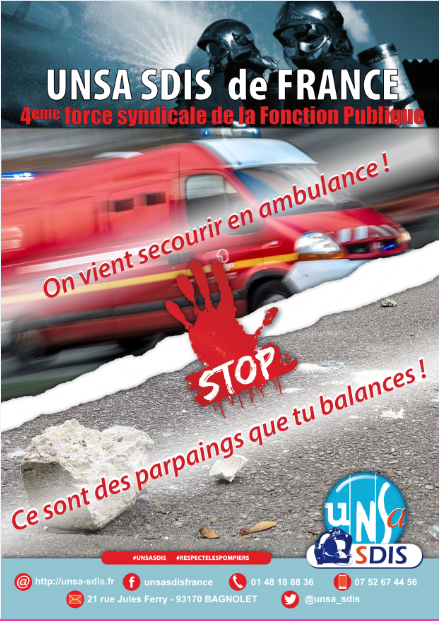 [TRACT] Halte violence SP UNSA - On vient secourir en ambulance !