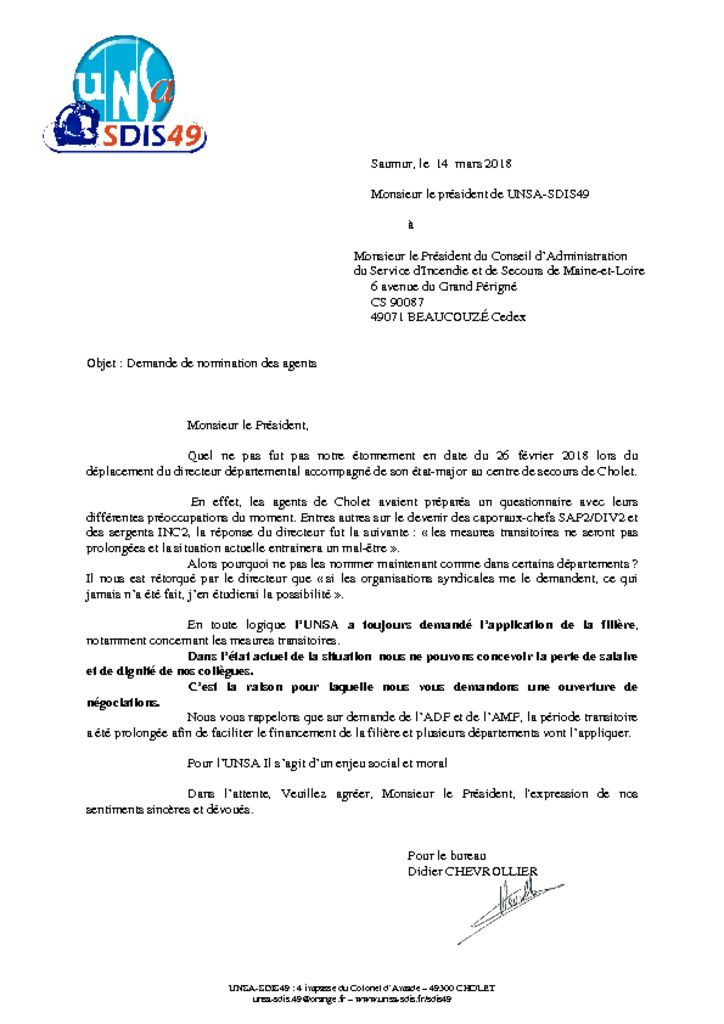thumbnail of courrier UNSA-SDIS49 nominations