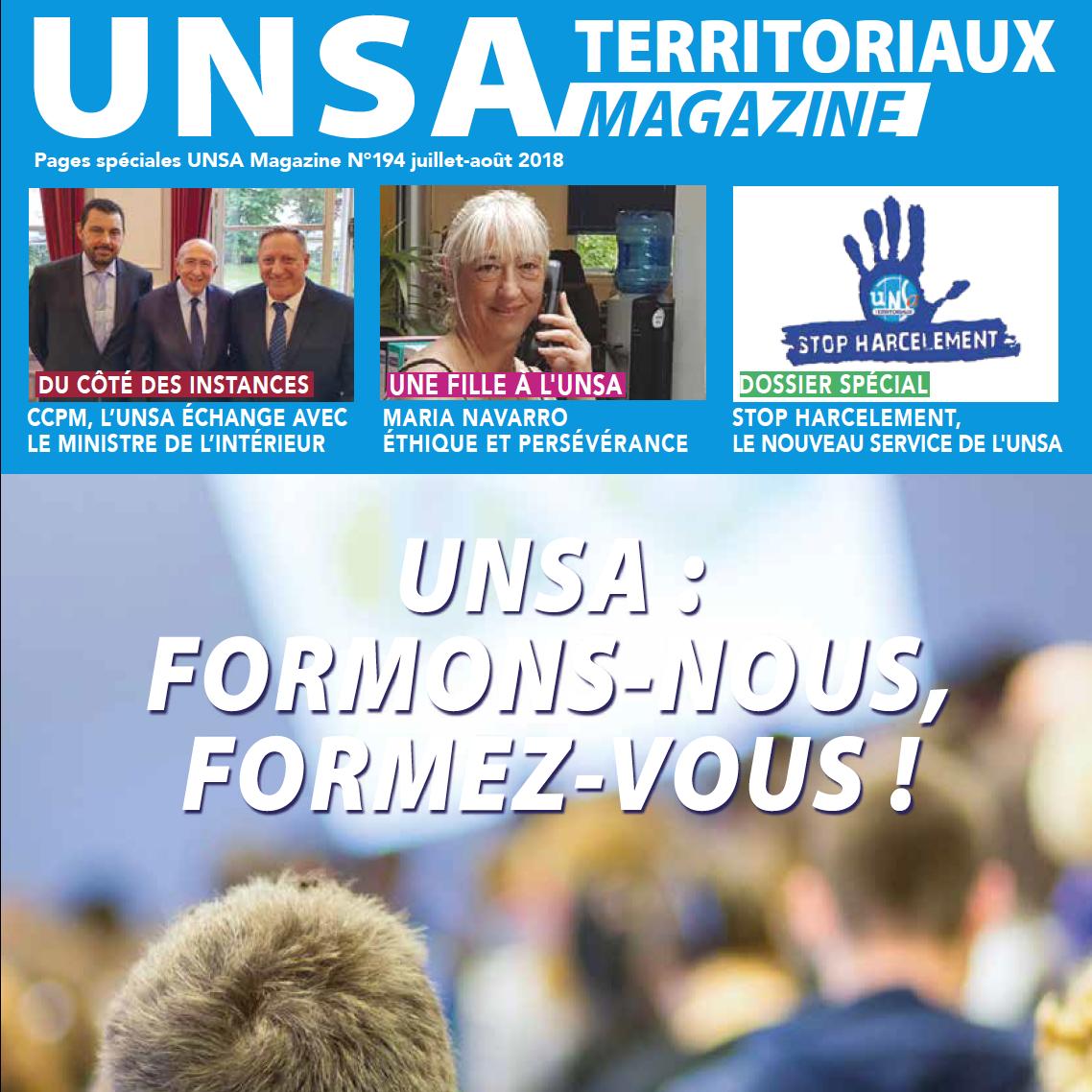 [Magazine] Le numéro 194 de l'UNSA Territoriaux magazine est sorti !