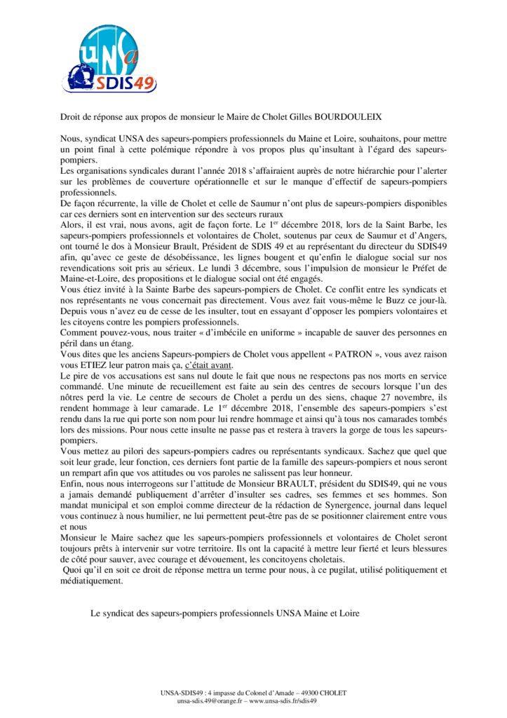 thumbnail of Communiqué UNSA SDIS49 fevrier 2019